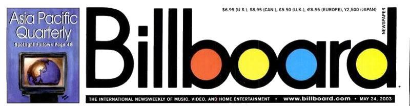 Magazines Américains - Page 4 Billboard24mai2003_page1_image1