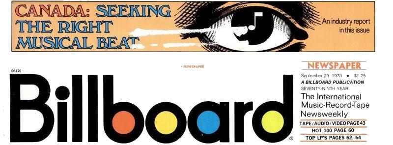 Magazines Américains Billboard29septembre1973_page1