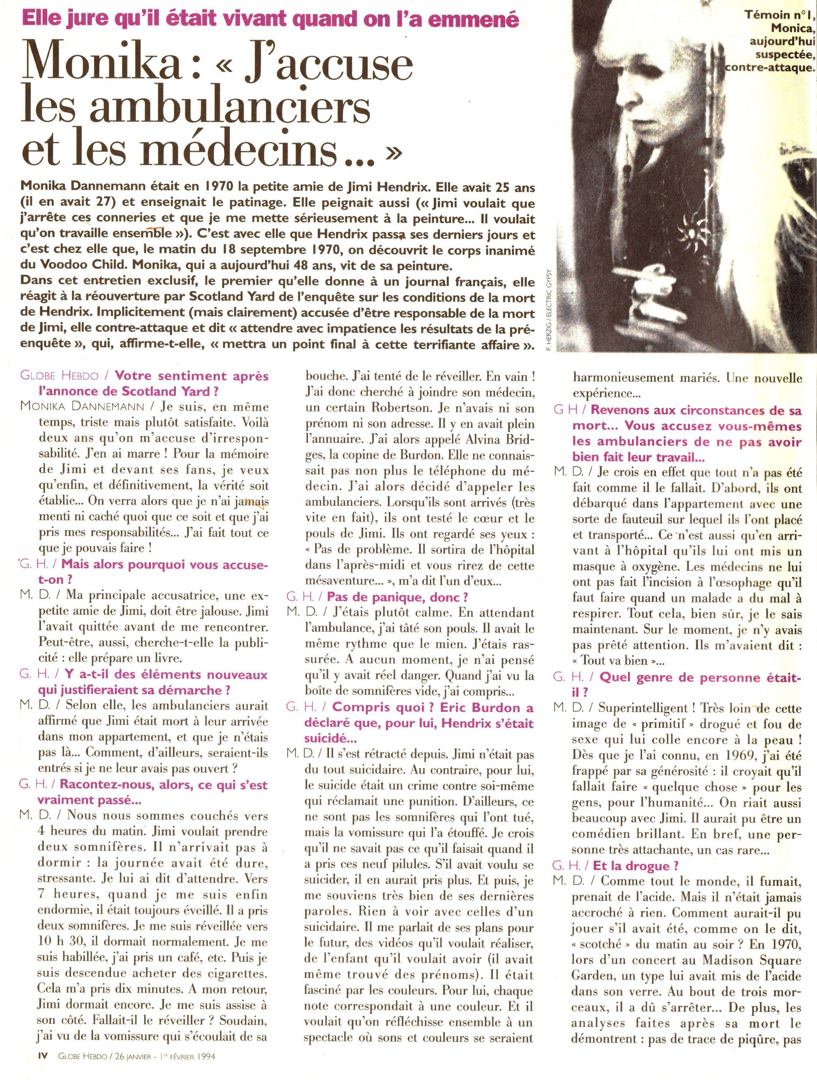 Magazines Français 1989 - 2014 GlobeHebdo26Janvier1reFevrier1994Page04