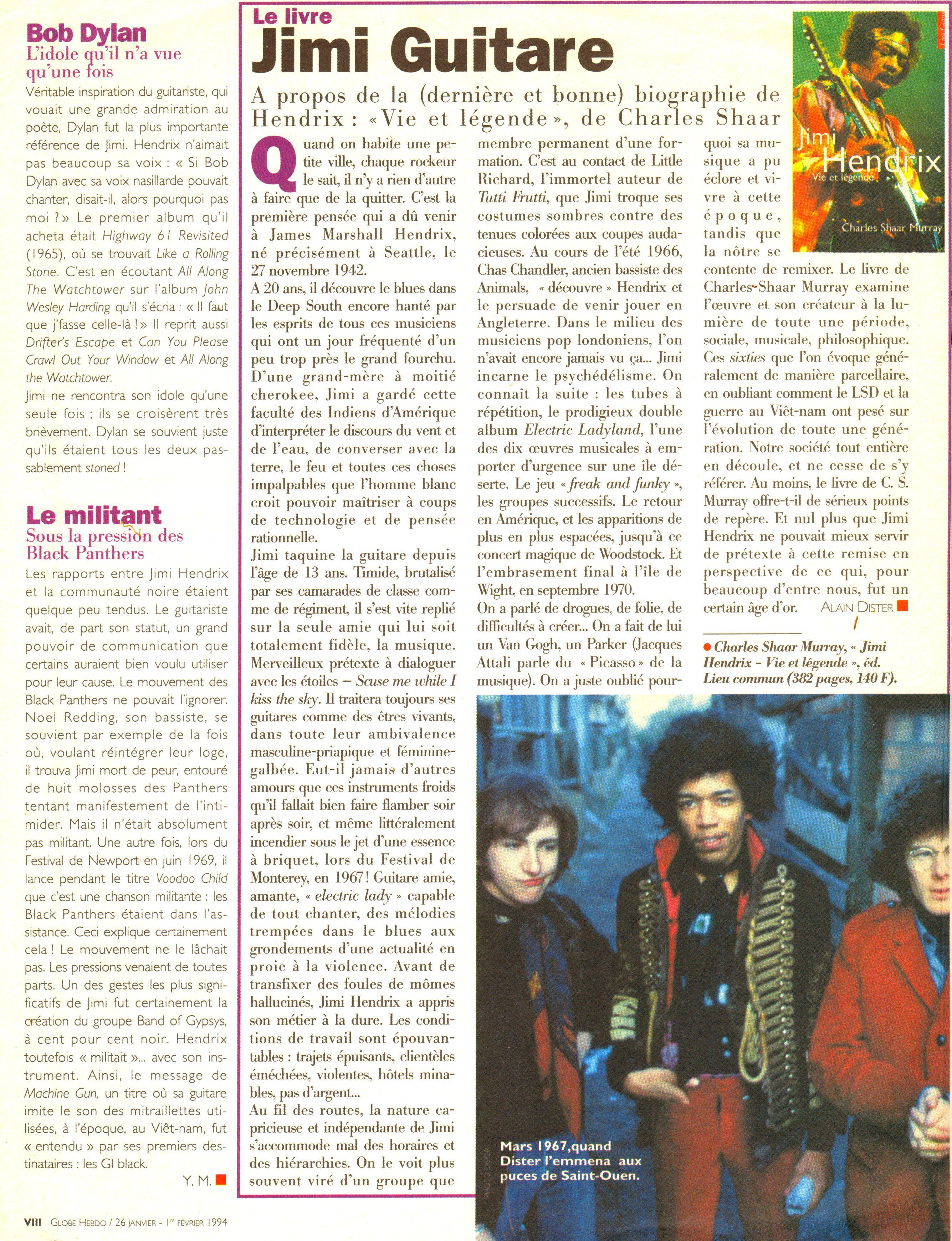 Magazines Français 1989 - 2014 GlobeHebdo26Janvier1reFevrier1994Page08