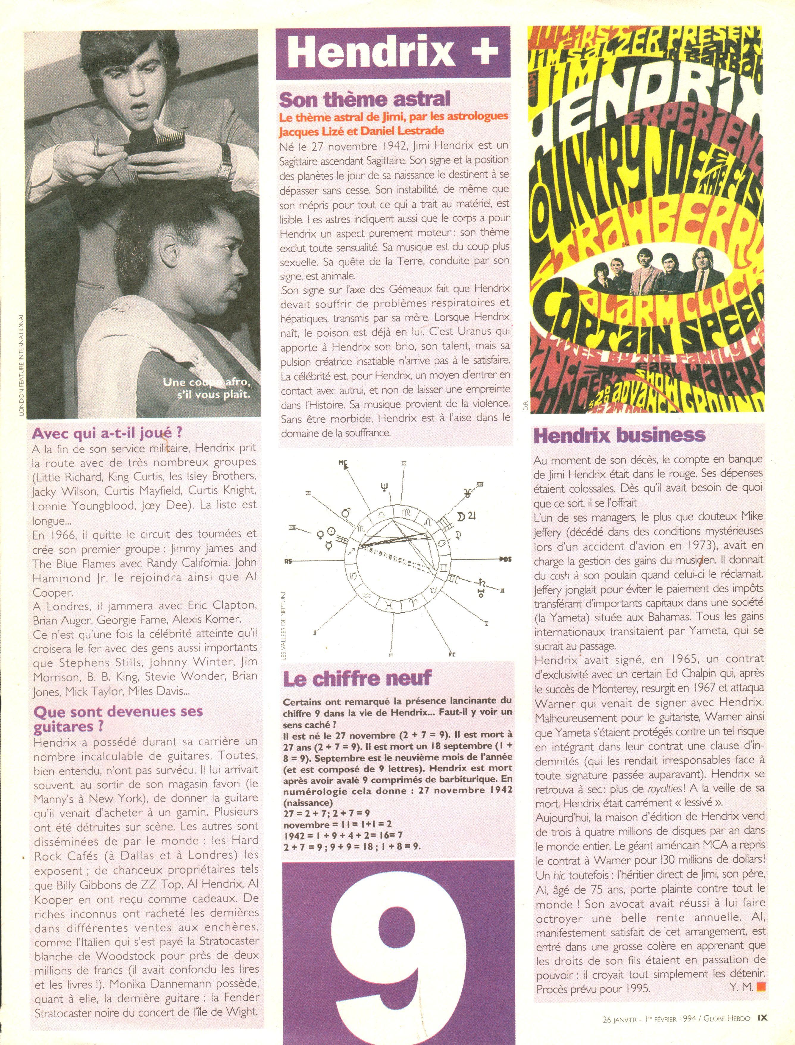 Magazines Français 1989 - 2014 GlobeHebdo26Janvier1reFevrier1994Page09