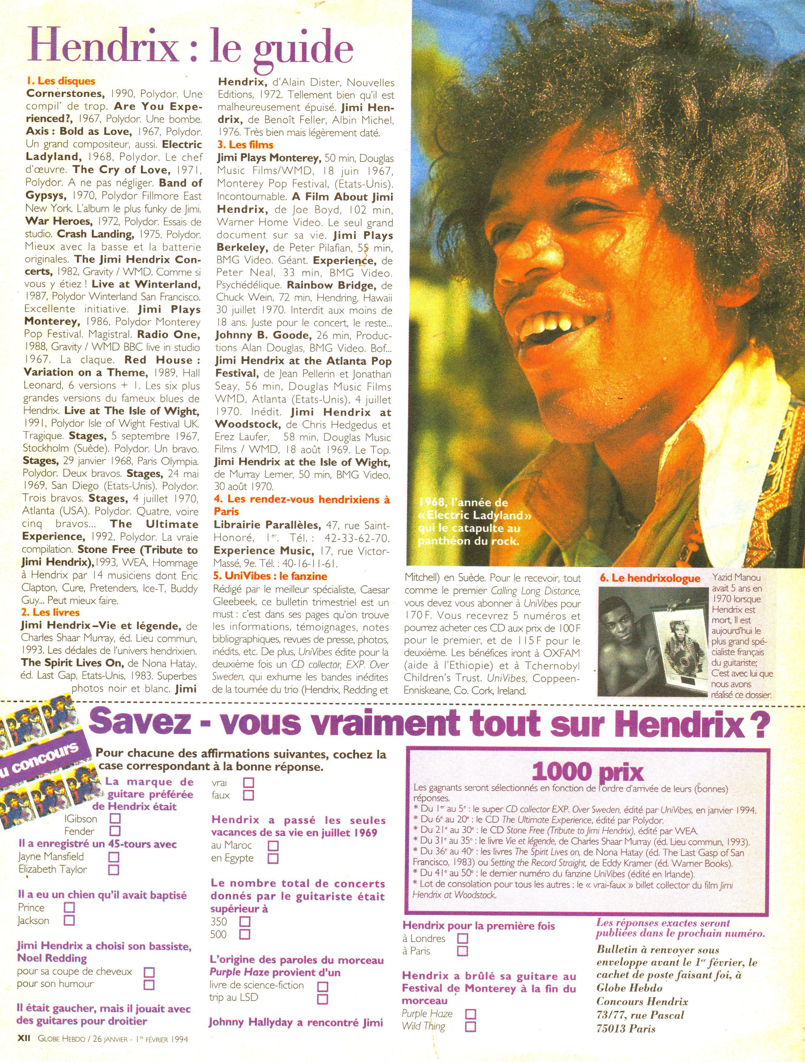 Magazines Français 1989 - 2014 GlobeHebdo26Janvier1reFevrier1994Page11