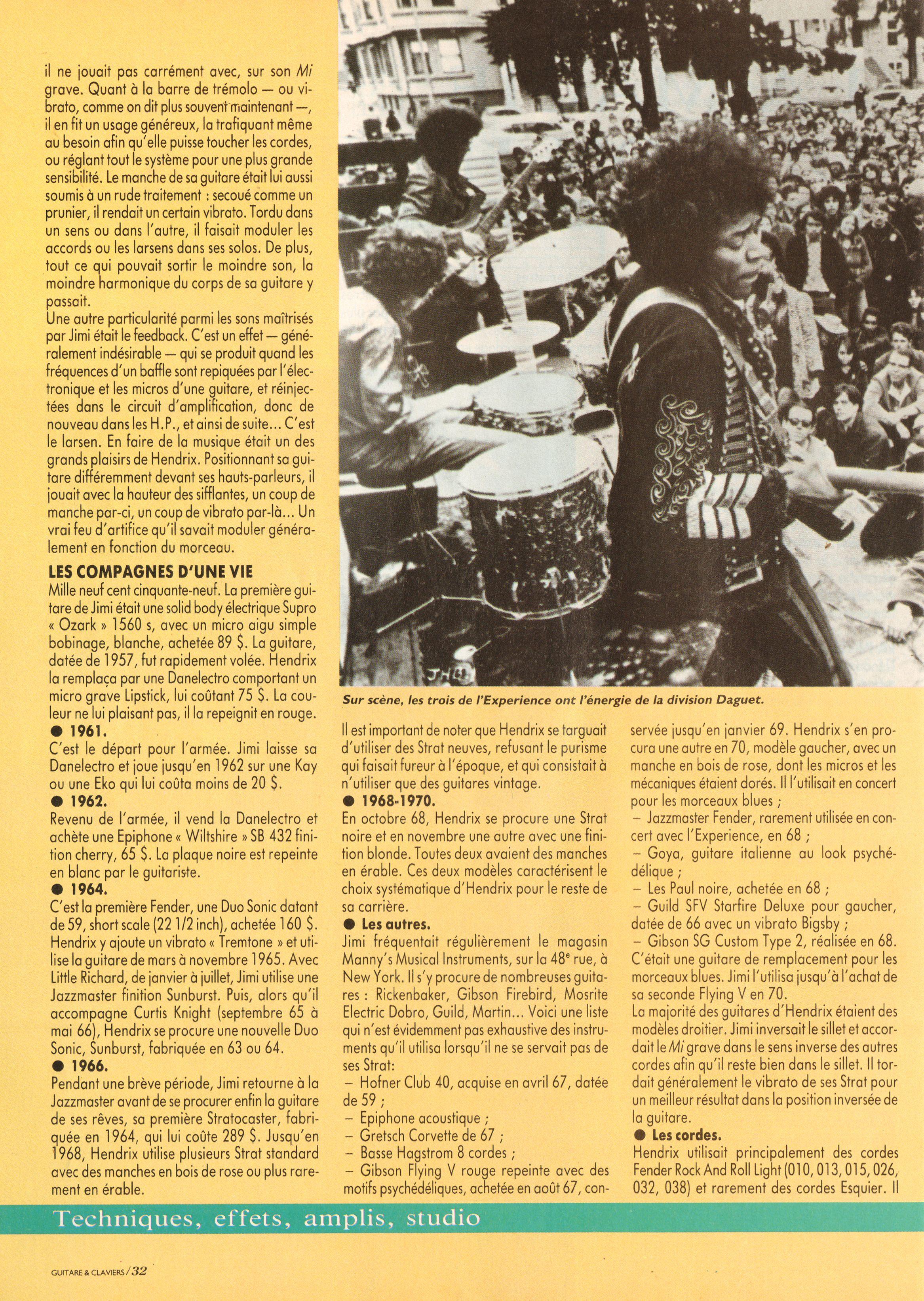 Magazines Français 1989 - 2014 GuitareClaviersJuilletAout1991Page32