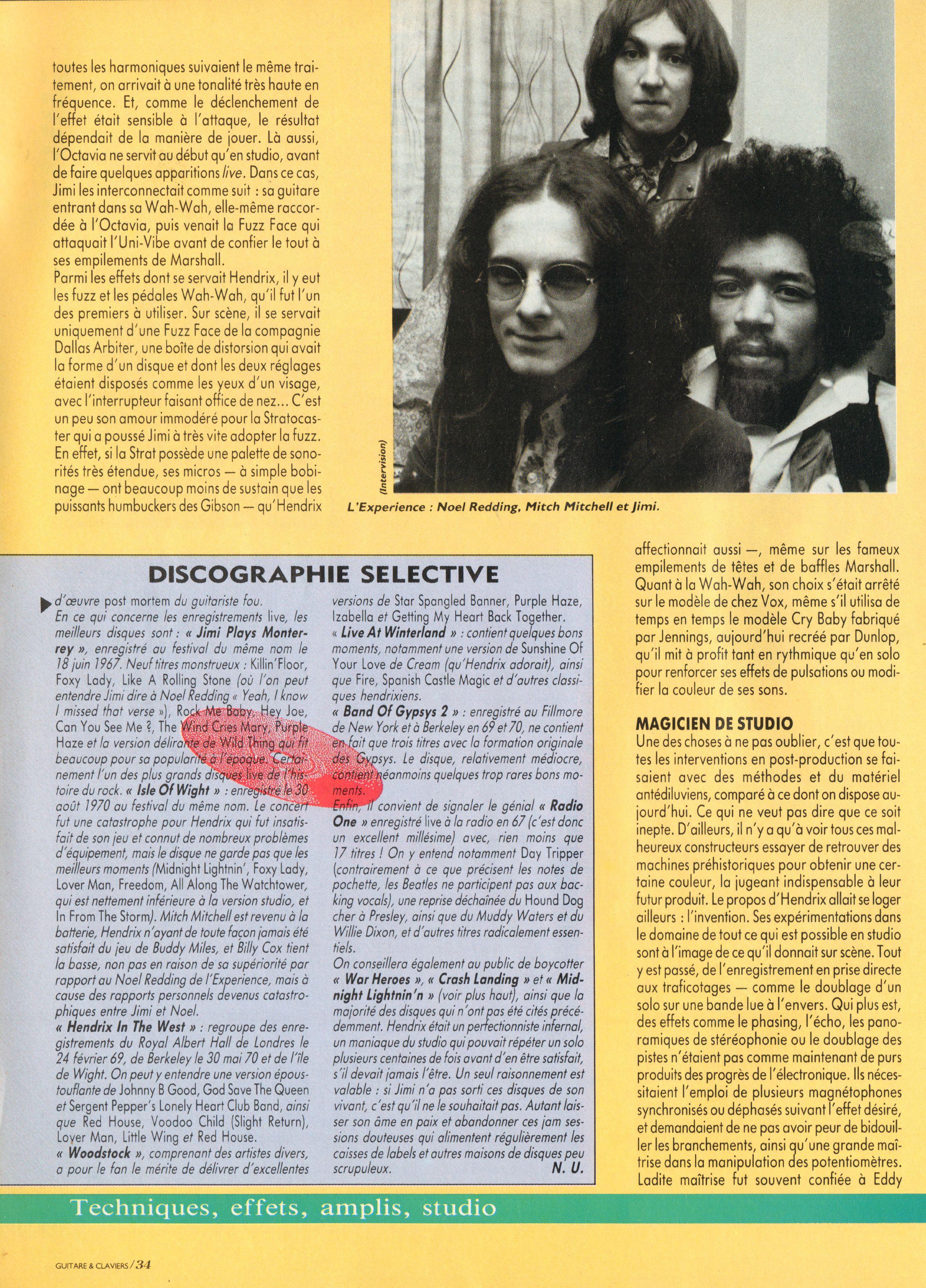 Magazines Français 1989 - 2014 GuitareClaviersJuilletAout1991Page34
