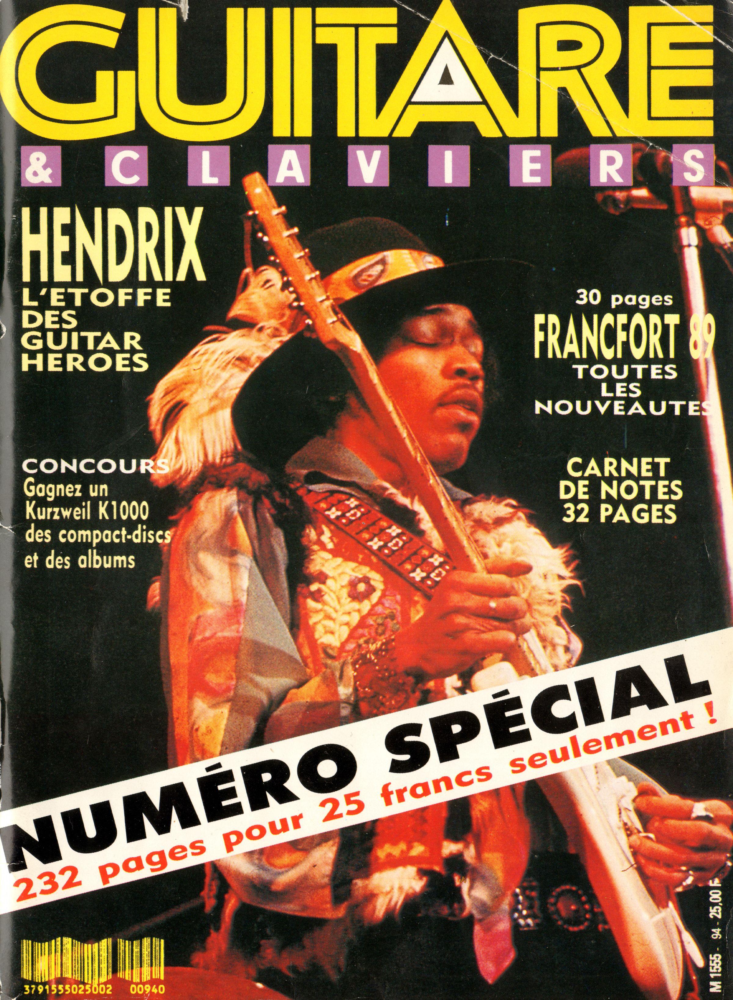 Magazines Français 1989 - 2014 GuitareClaviersMars1989Couverture