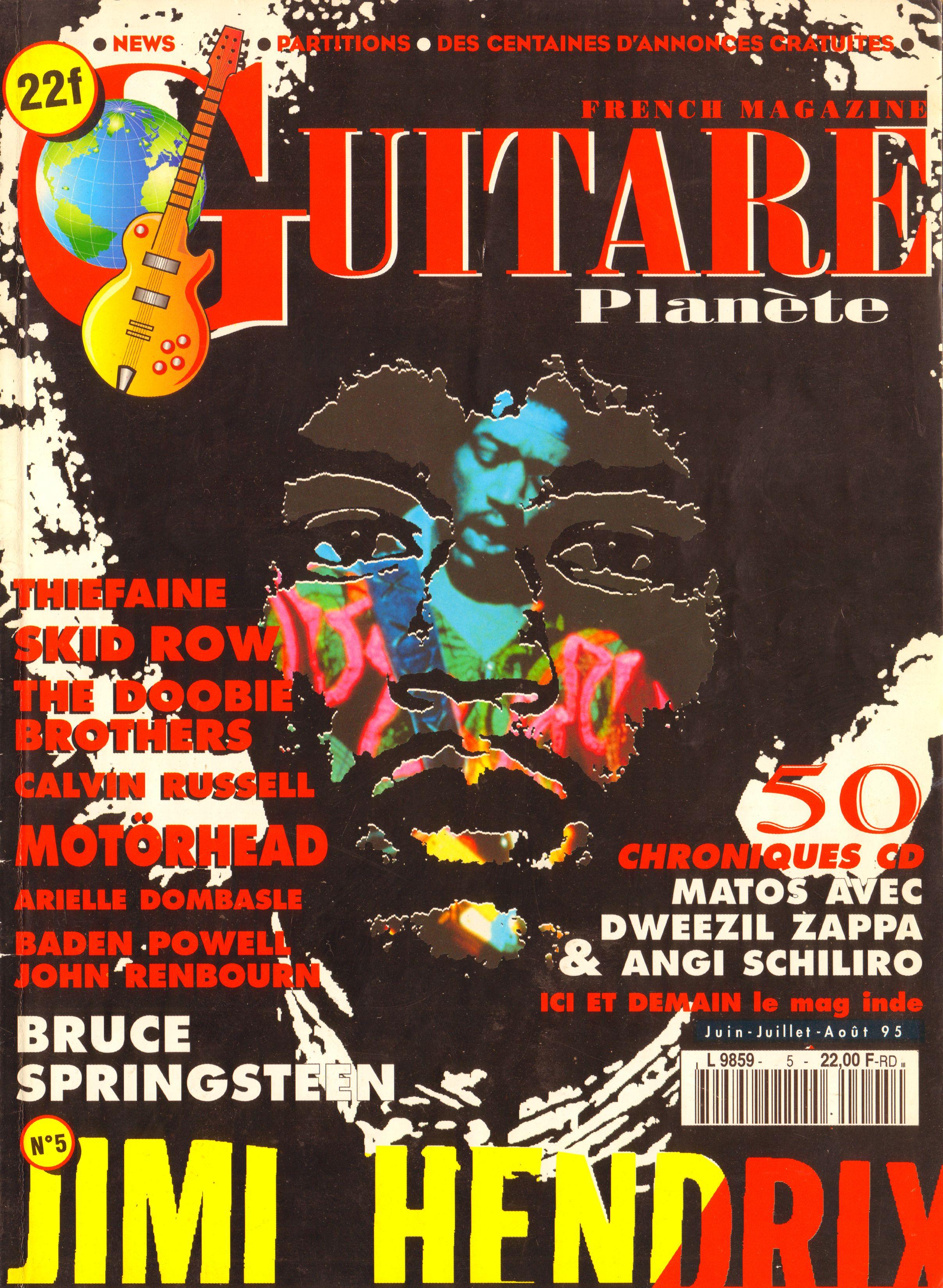 Magazines Français 1989 - 2014 GuitarePlaneteJuinJuilletAout1995Couverture