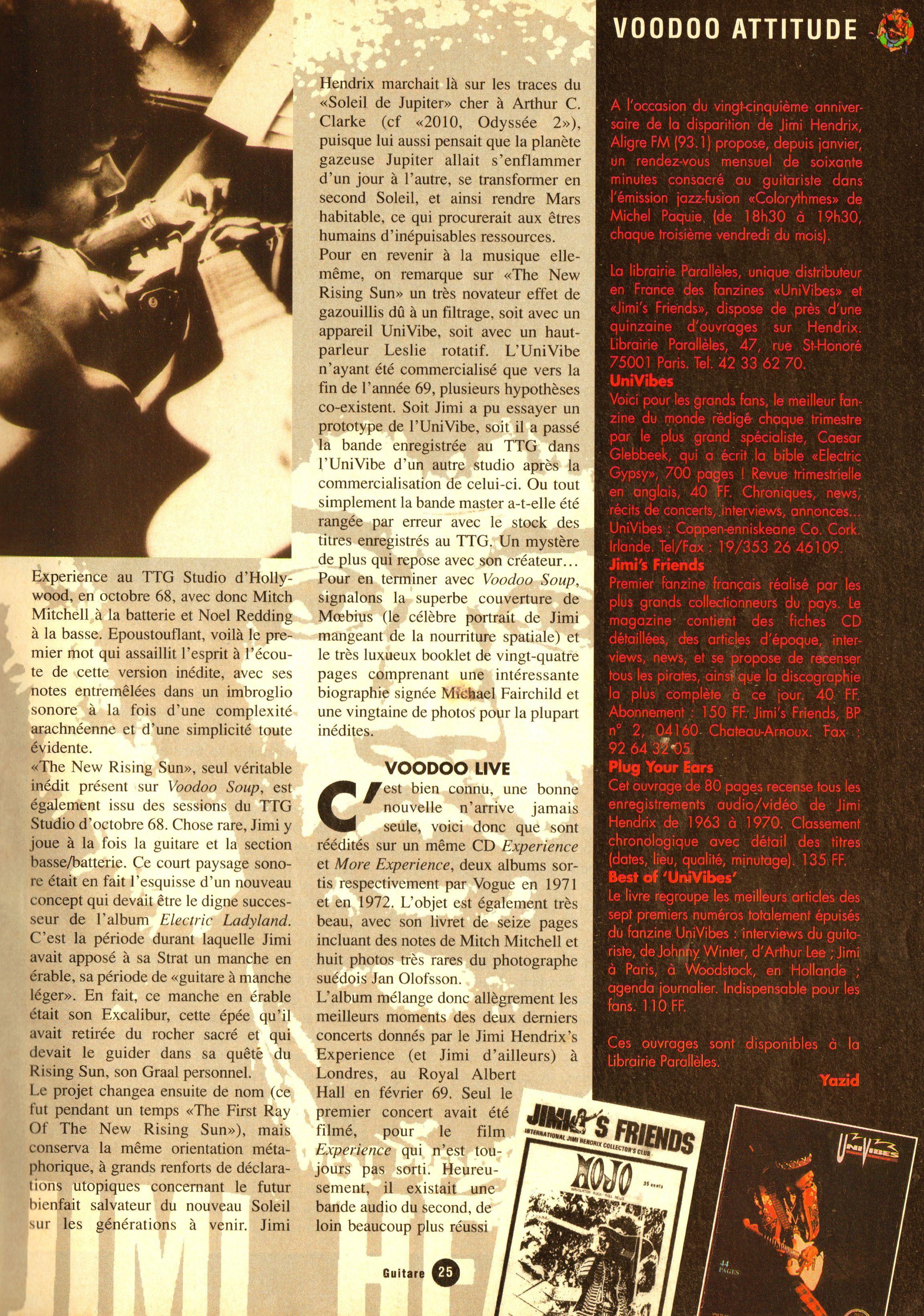 Magazines Français 1989 - 2014 GuitarePlaneteJuinJuilletAout1995Page25