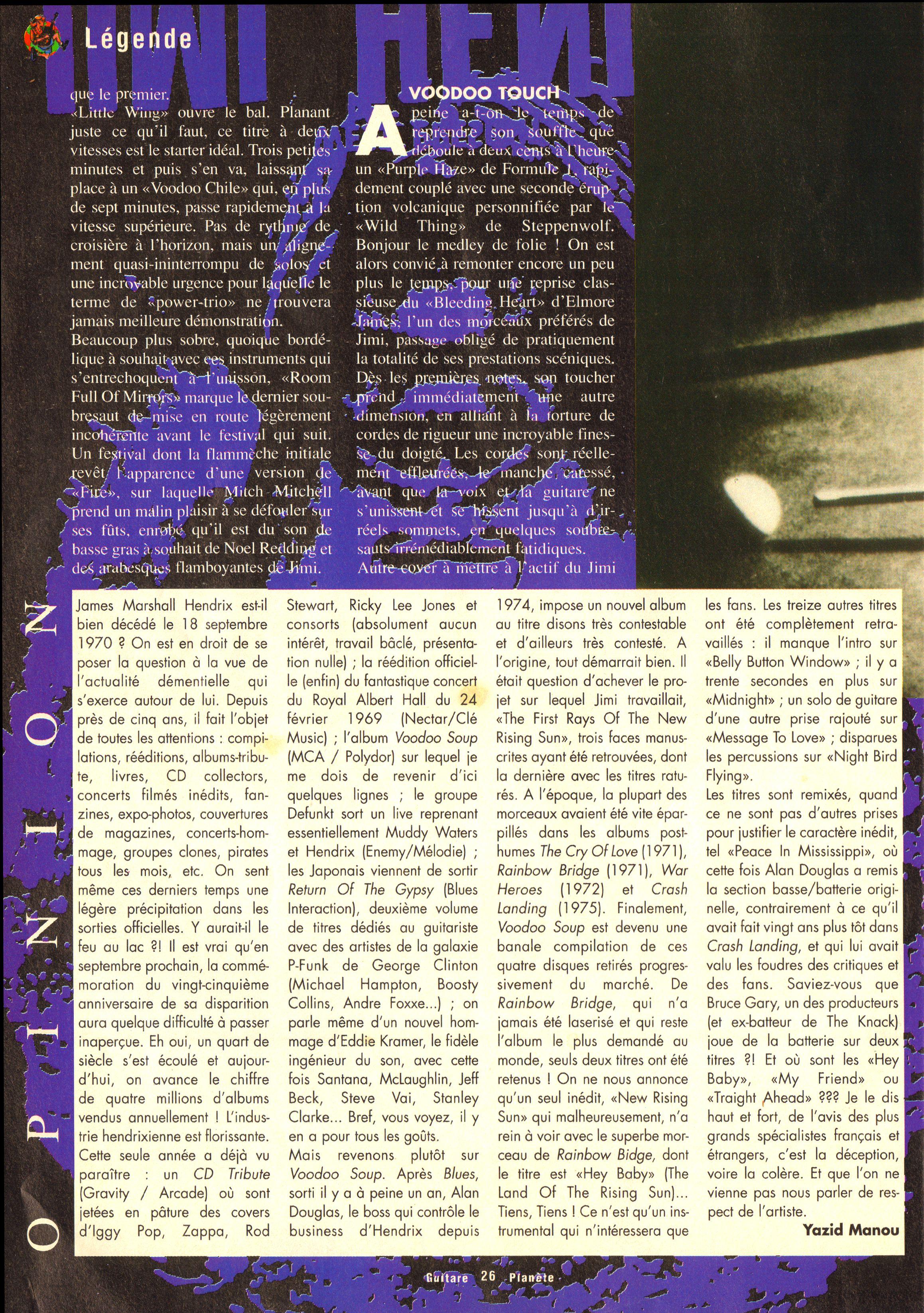 Magazines Français 1989 - 2014 GuitarePlaneteJuinJuilletAout1995Page26