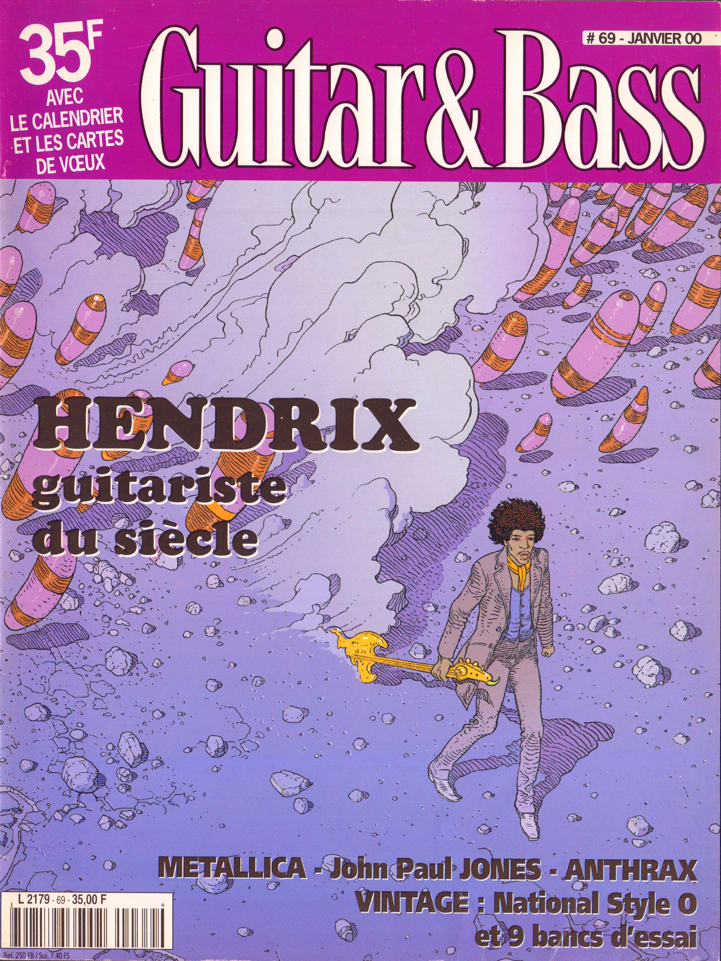 Magazines Français 1989 - 2014 GuitaretBassJanvier2000Couverture