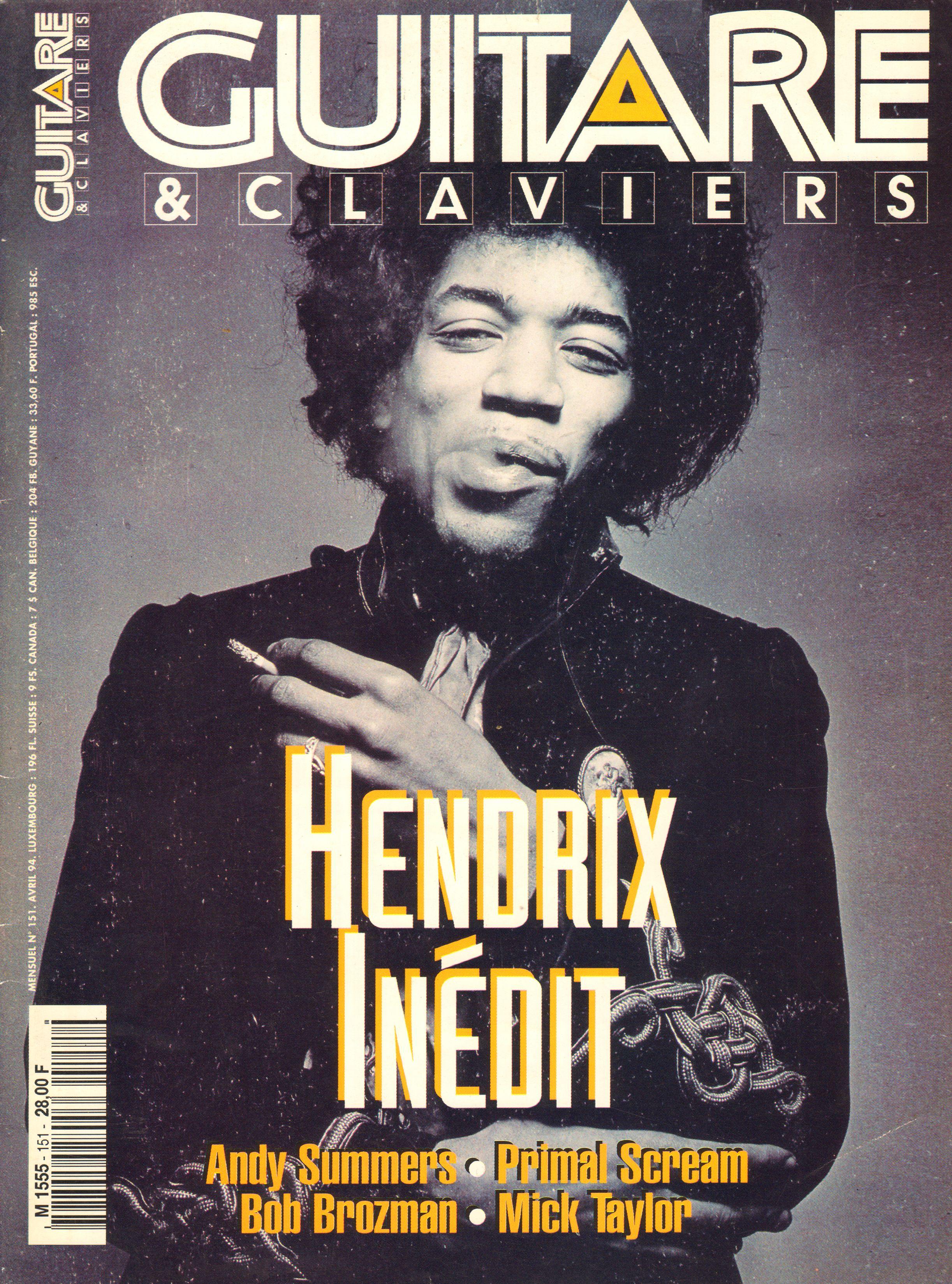 Magazines Français 1989 - 2014 GuitaretClavierAvril1994Couverture