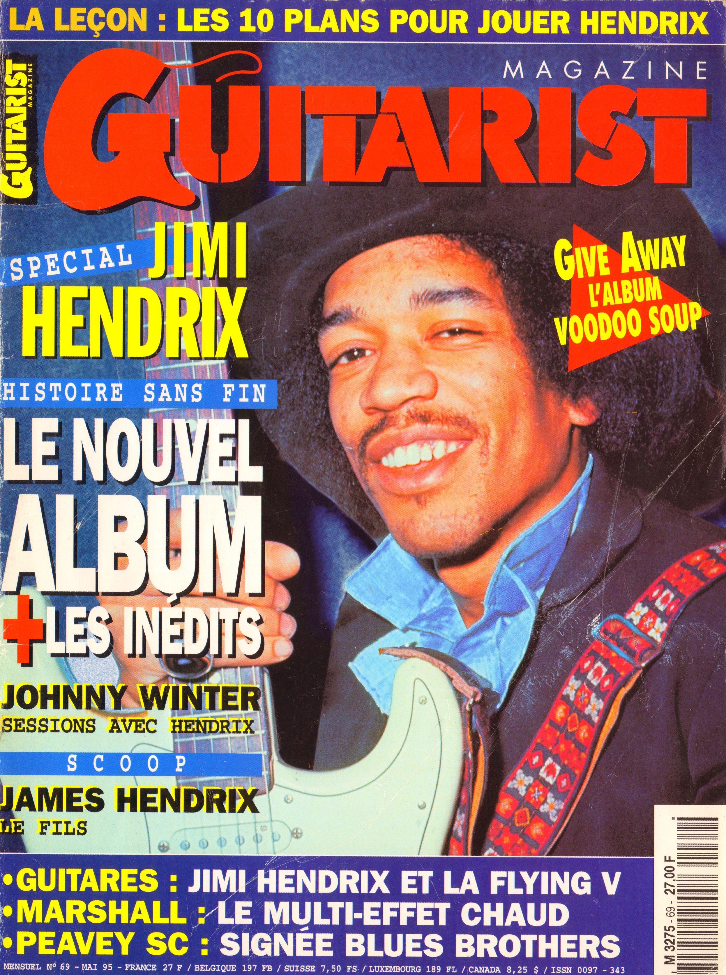 Magazines Français 1989 - 2014 GuitaristMai1995Couverture