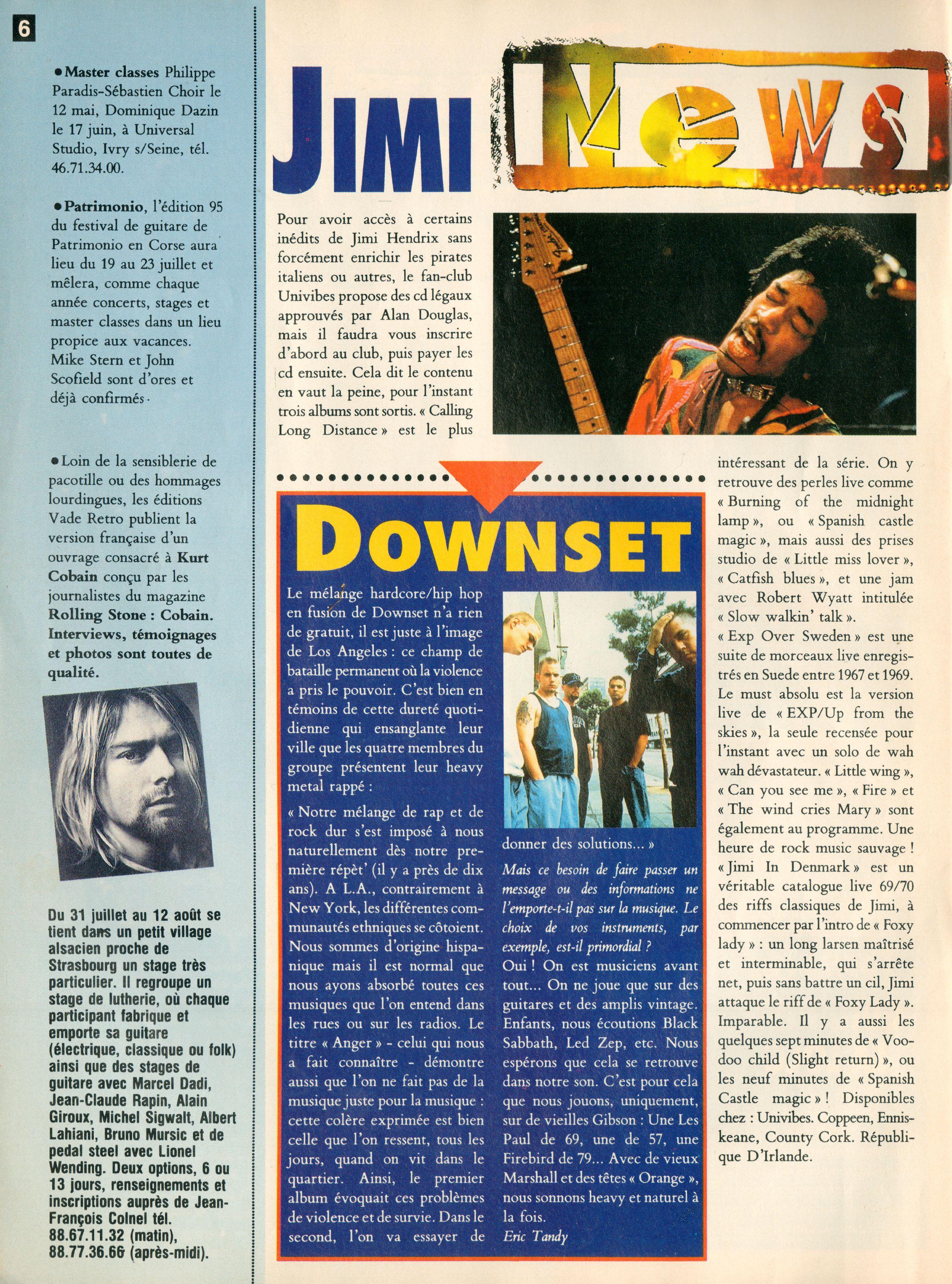 Magazines Français 1989 - 2014 GuitaristMai1995Page06