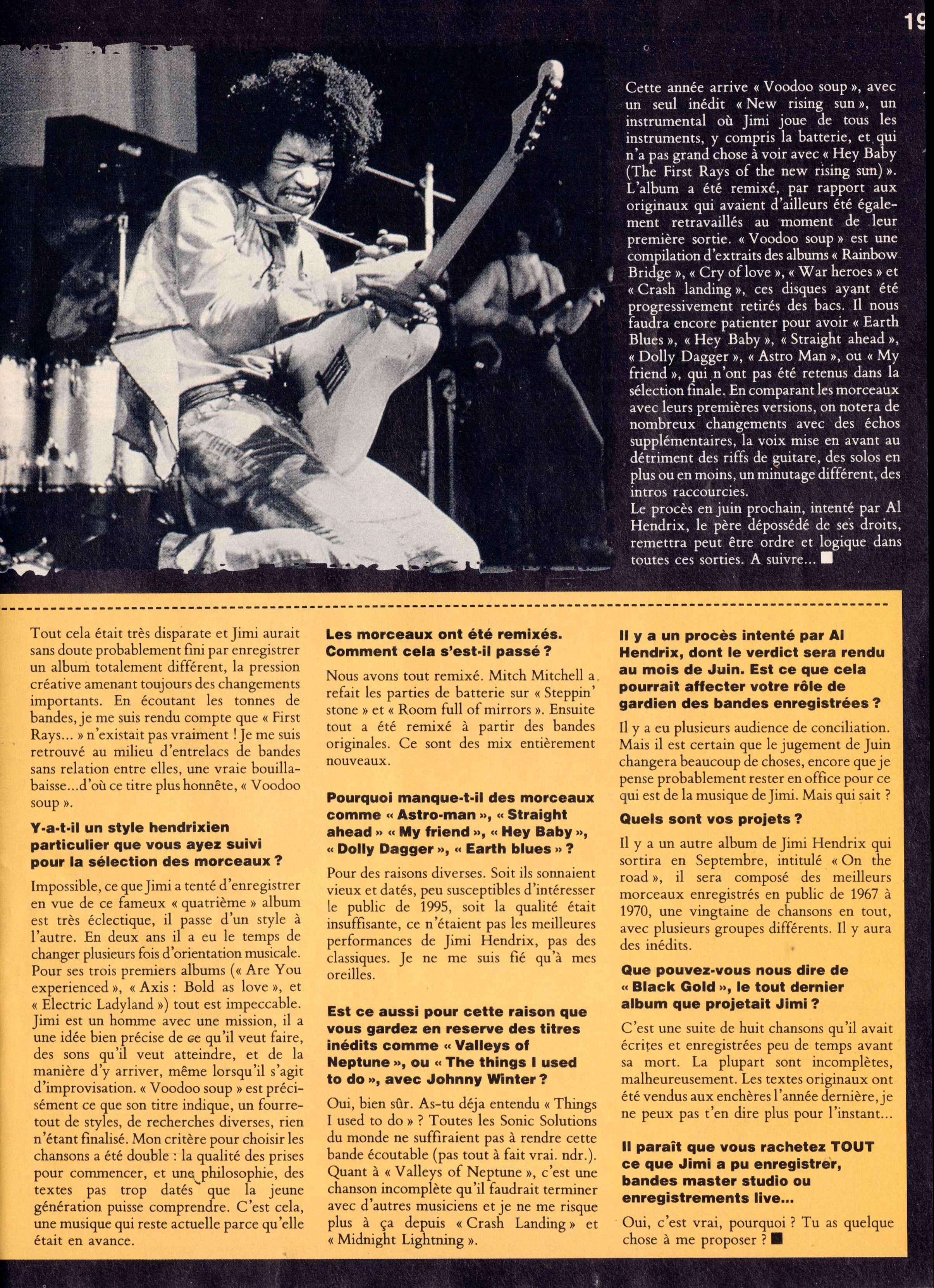 Magazines Français 1989 - 2014 GuitaristMai1995Page19