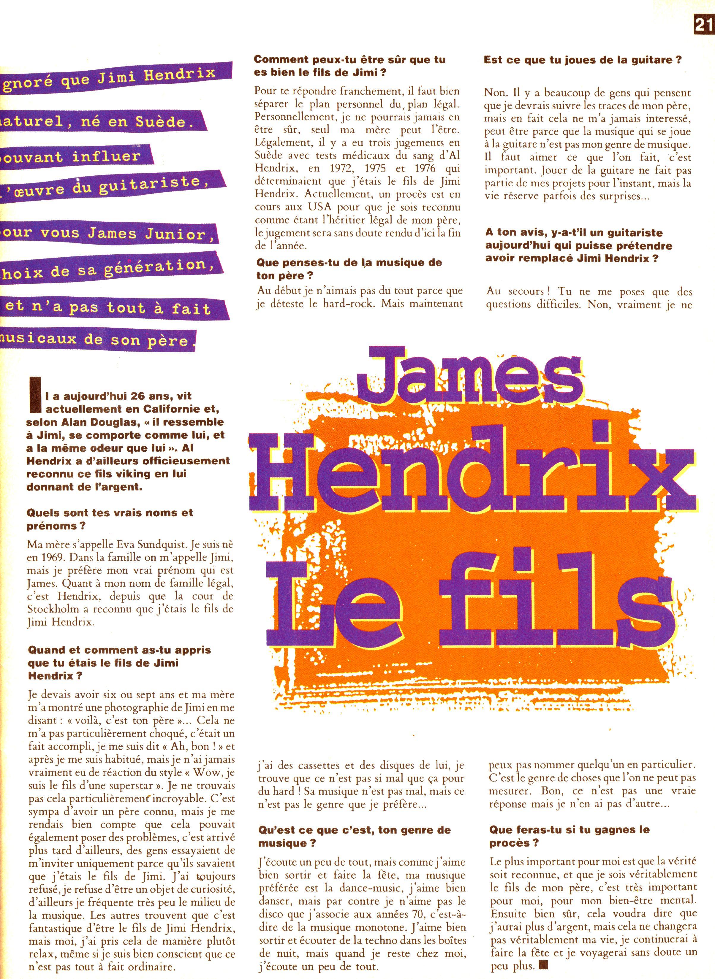 Magazines Français 1989 - 2014 GuitaristMai1995Page21