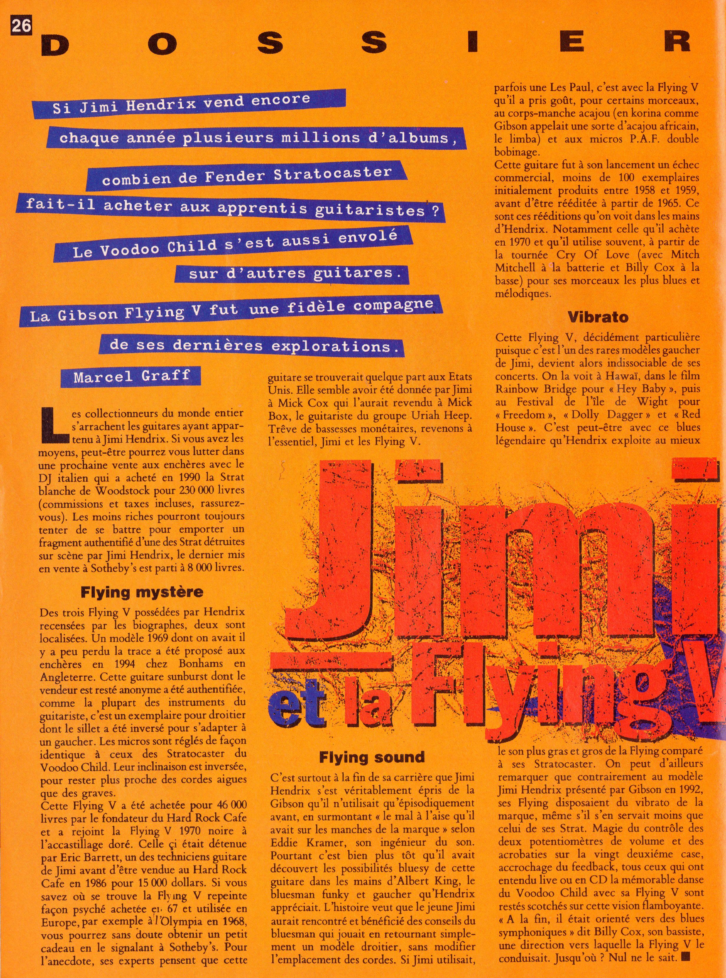 Magazines Français 1989 - 2014 GuitaristMai1995Page26