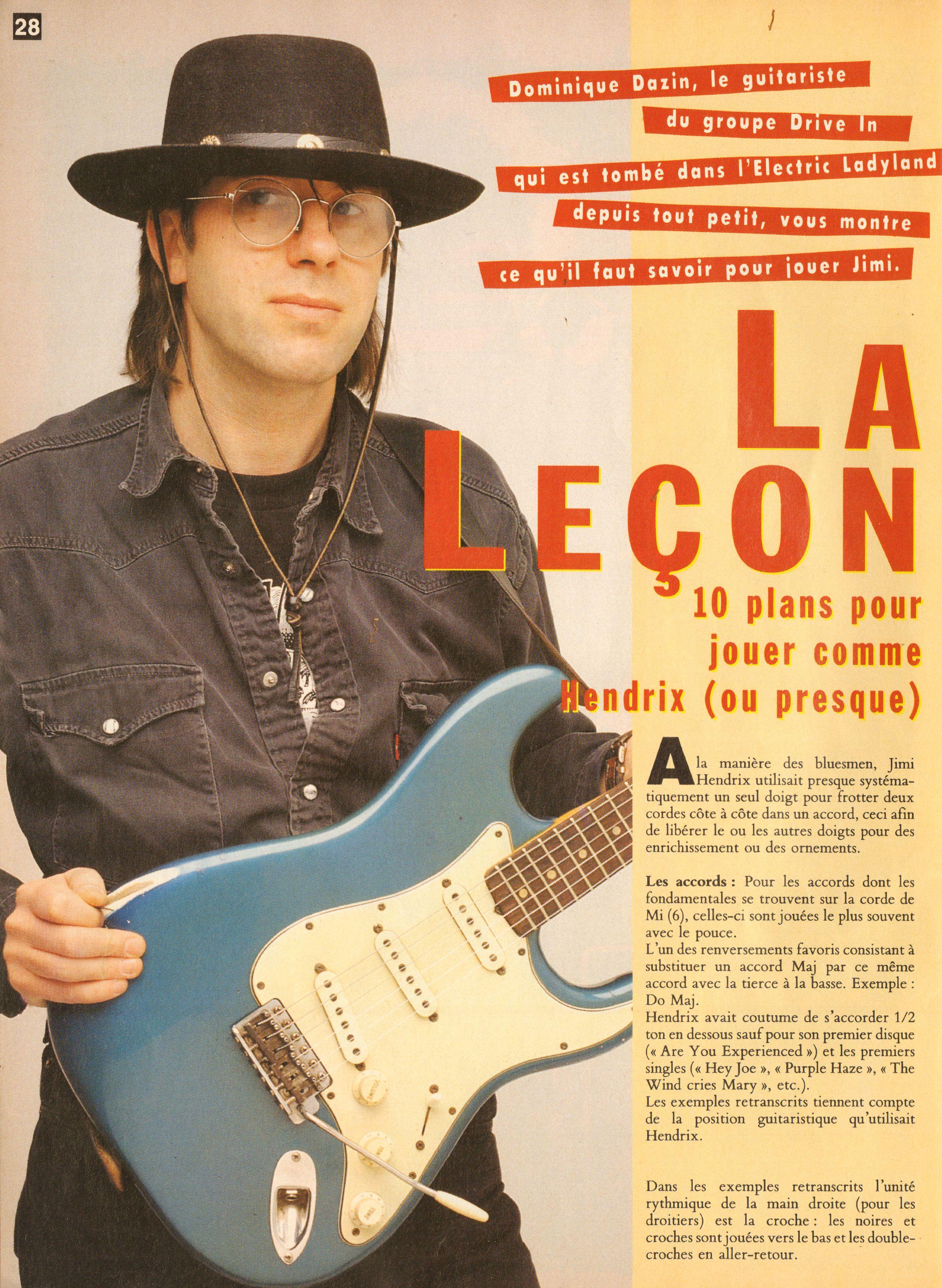 Magazines Français 1989 - 2014 GuitaristMai1995Page28