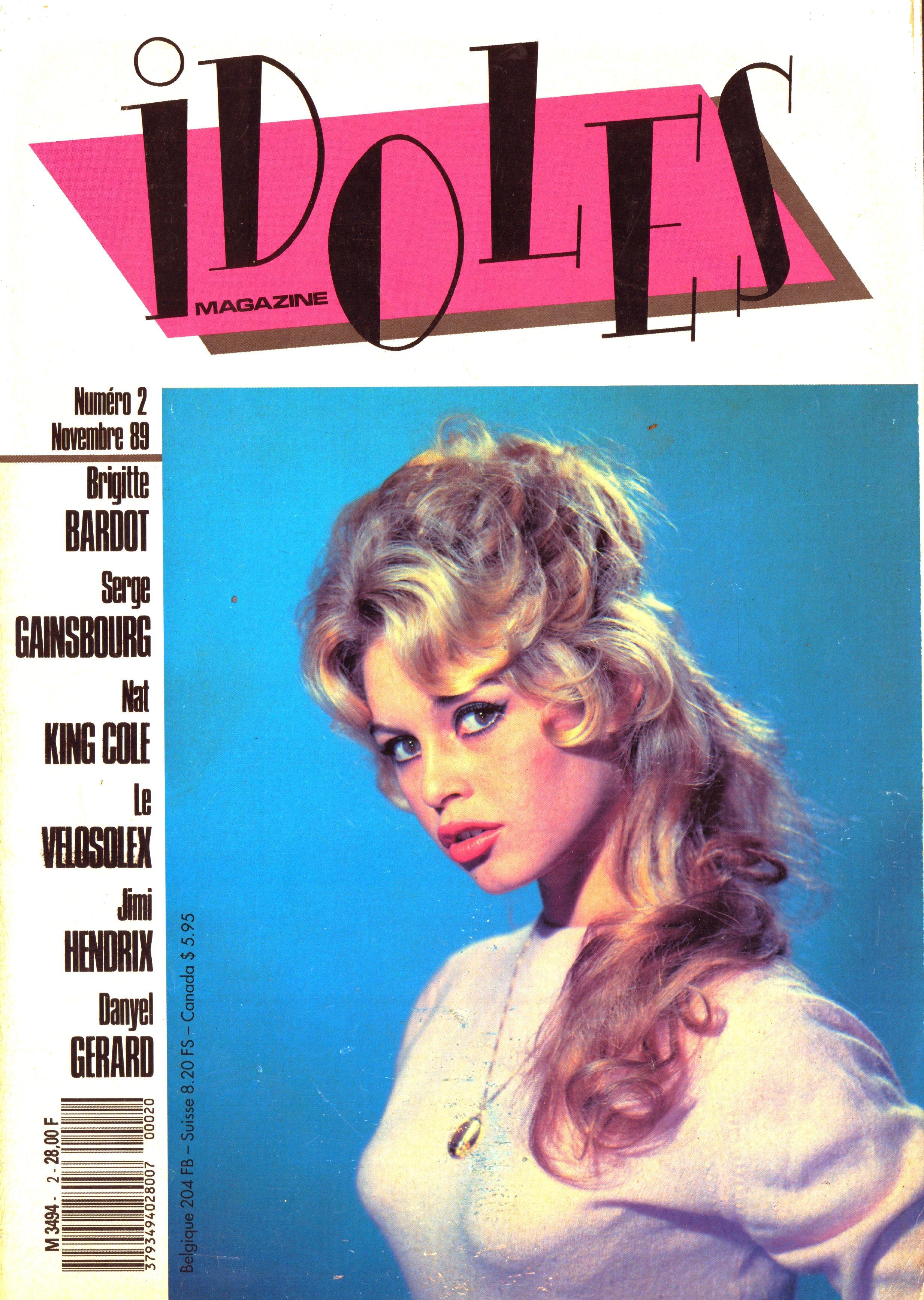 Magazines Français 1989 - 2014 IdolesNovembre1989Couverture