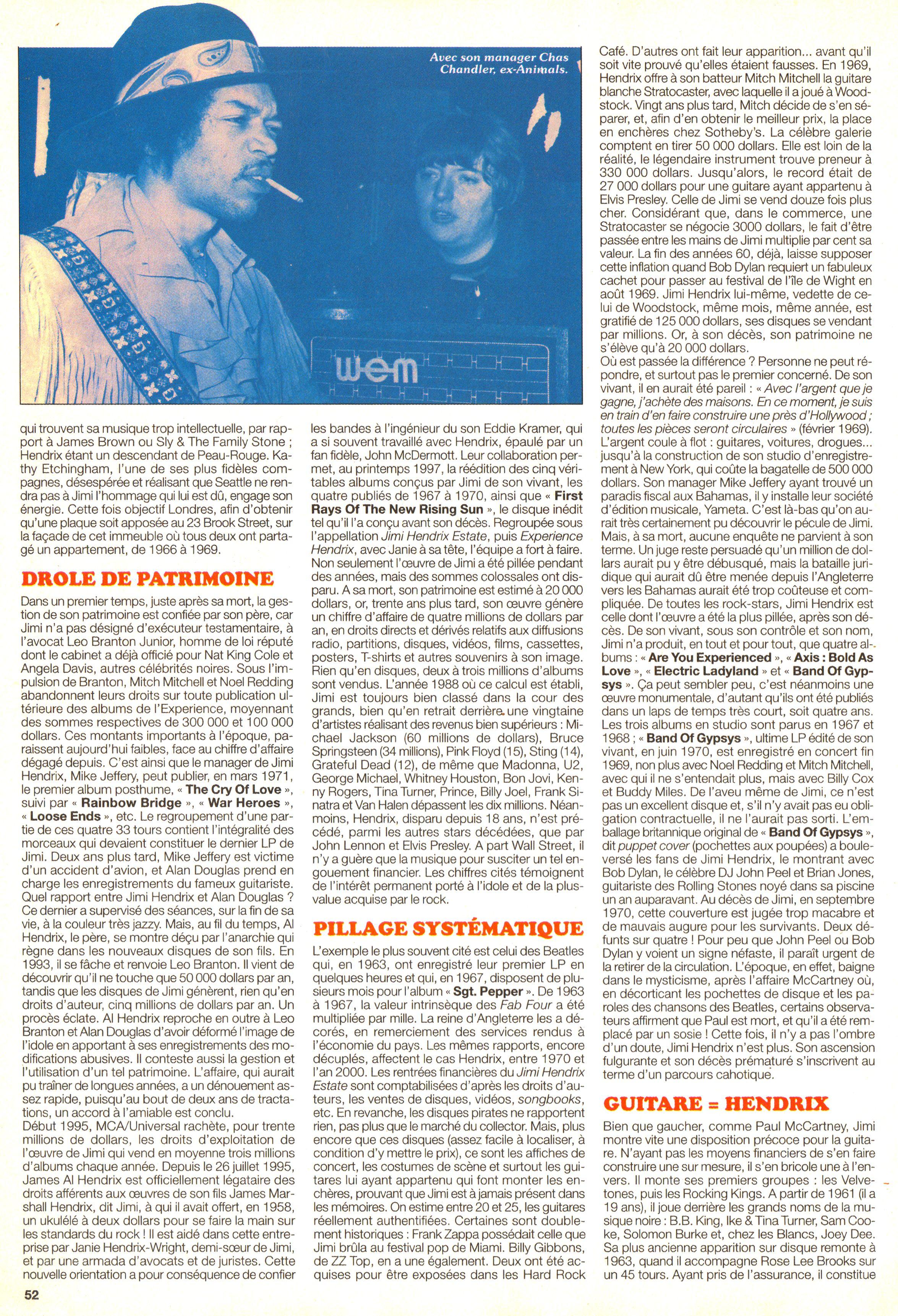 Magazines Français 1989 - 2014 JukeBoxSeptembre2000Page52
