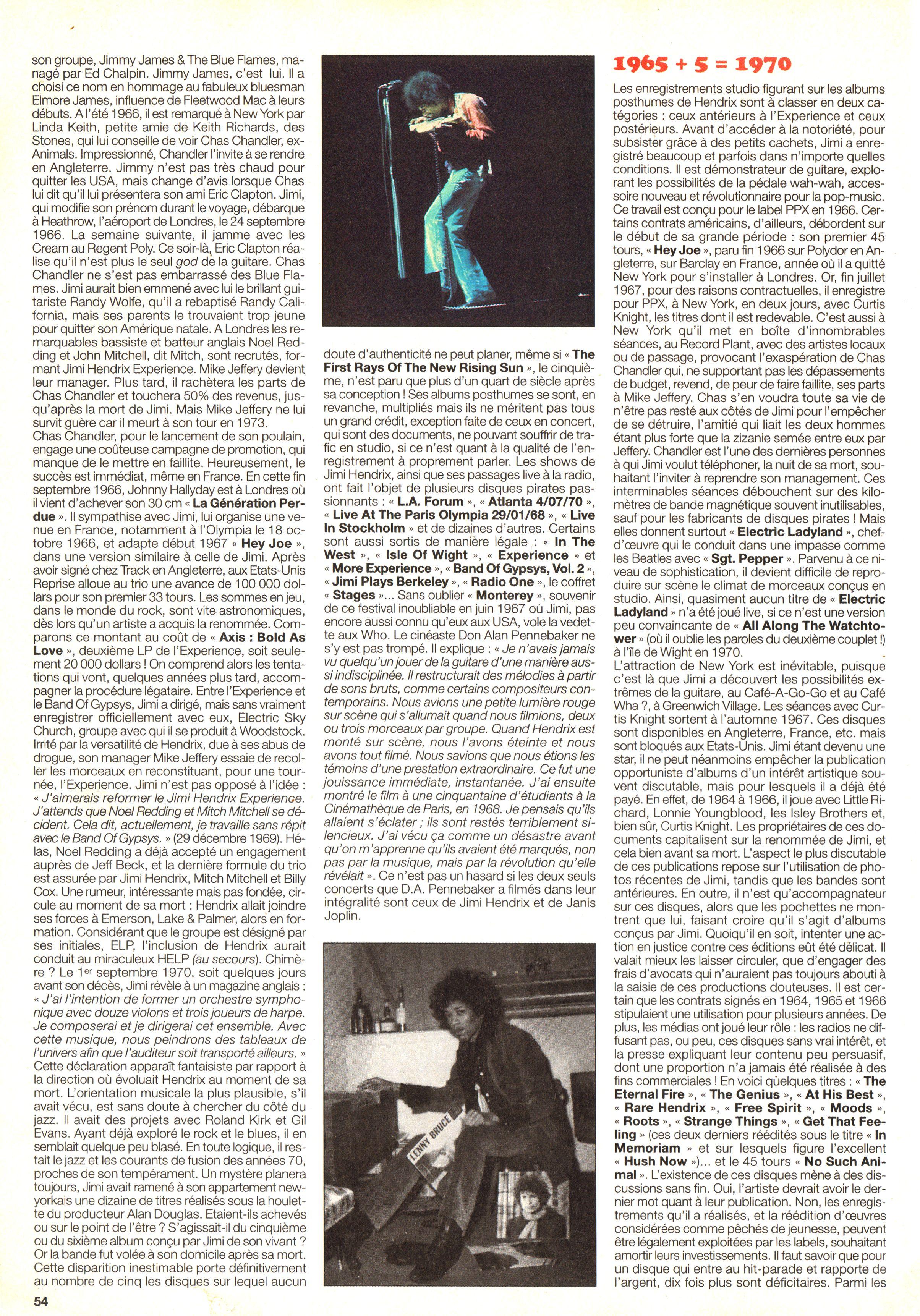 Magazines Français 1989 - 2014 JukeBoxSeptembre2000Page54