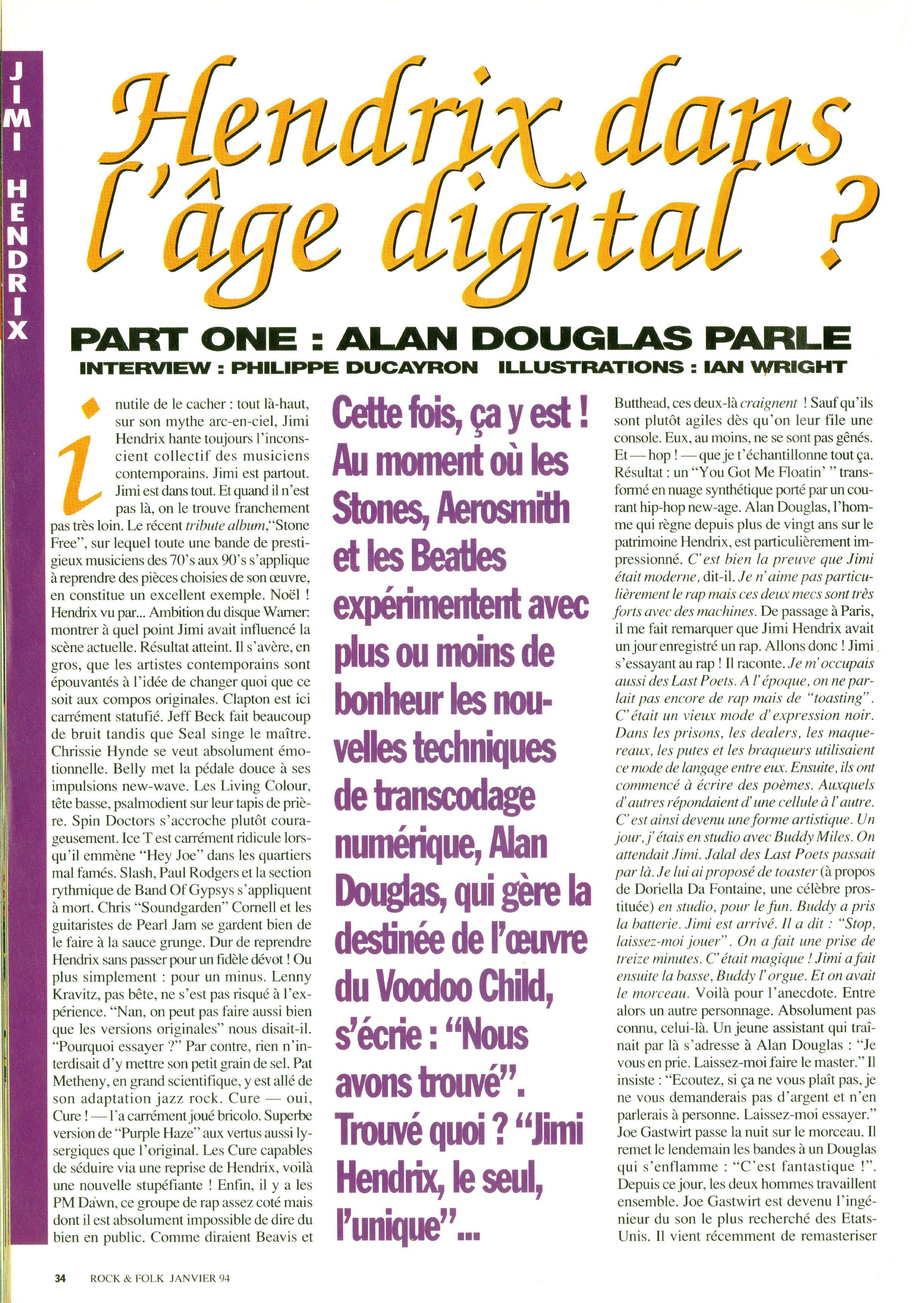 Magazines Français 1989 - 2014 RocketFolkJanvier1994Page34