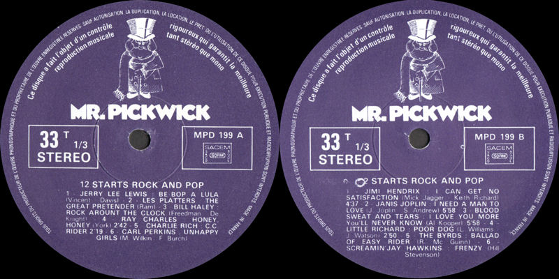 Discographie : Rééditions & Compilations - Page 10 MrPickwickMPD199-12StarsRockAndPopLabel_zps7c343426