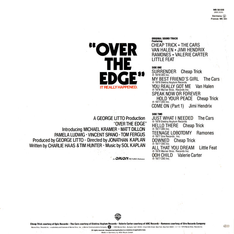 Discographie : Rééditions & Compilations - Page 10 WarnerBrosWB56638-OverTheEdgeBack_zpsa01a55fa