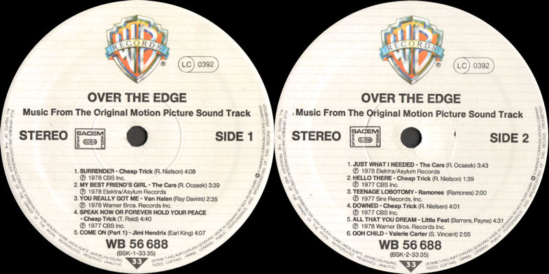 Discographie : Rééditions & Compilations - Page 10 WarnerBrosWB56638-OverTheEdgeLabel_zpseec4562e