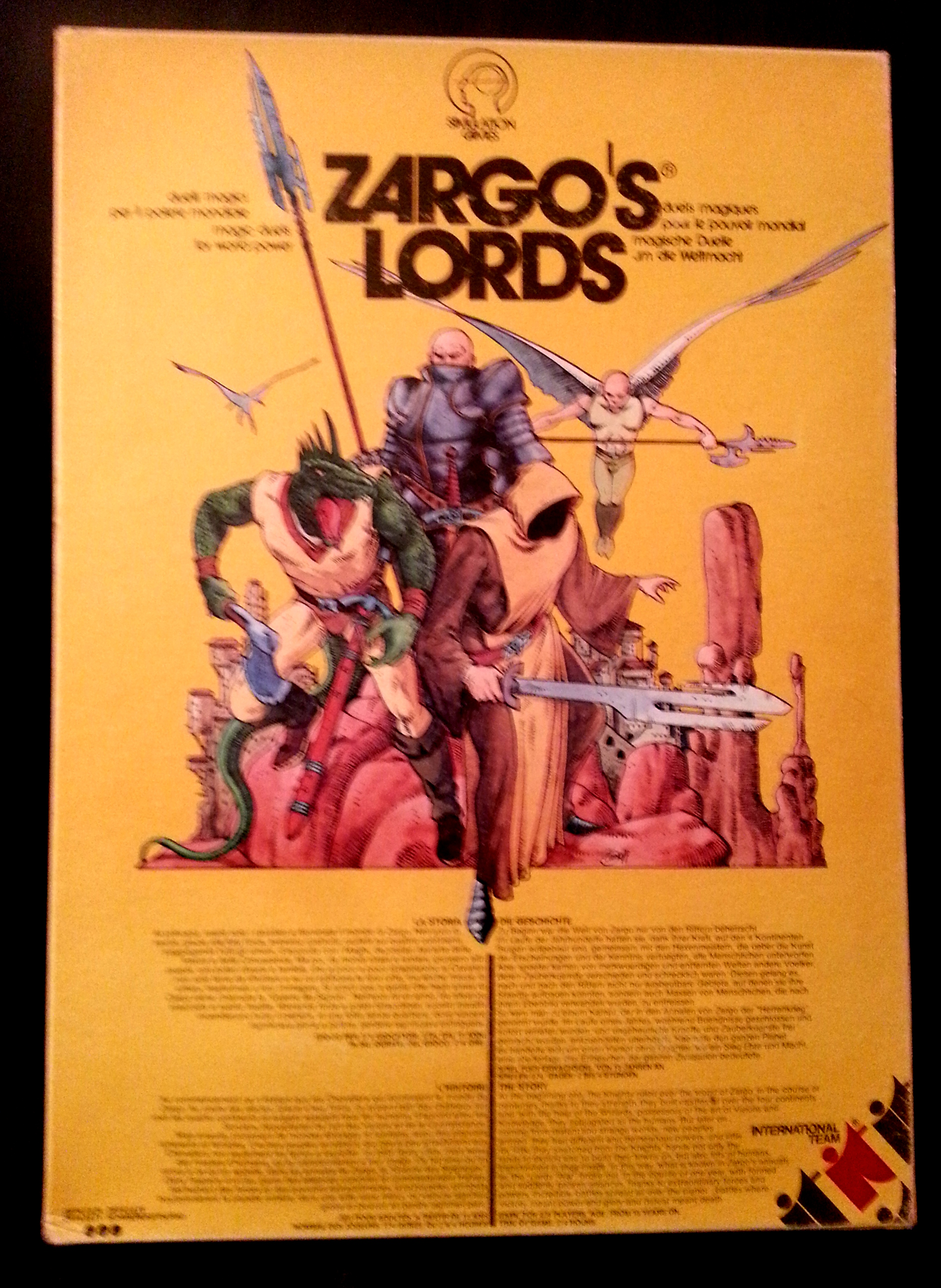 CERCO Gioco da tavola Zargo's Lords Zargo-copertina