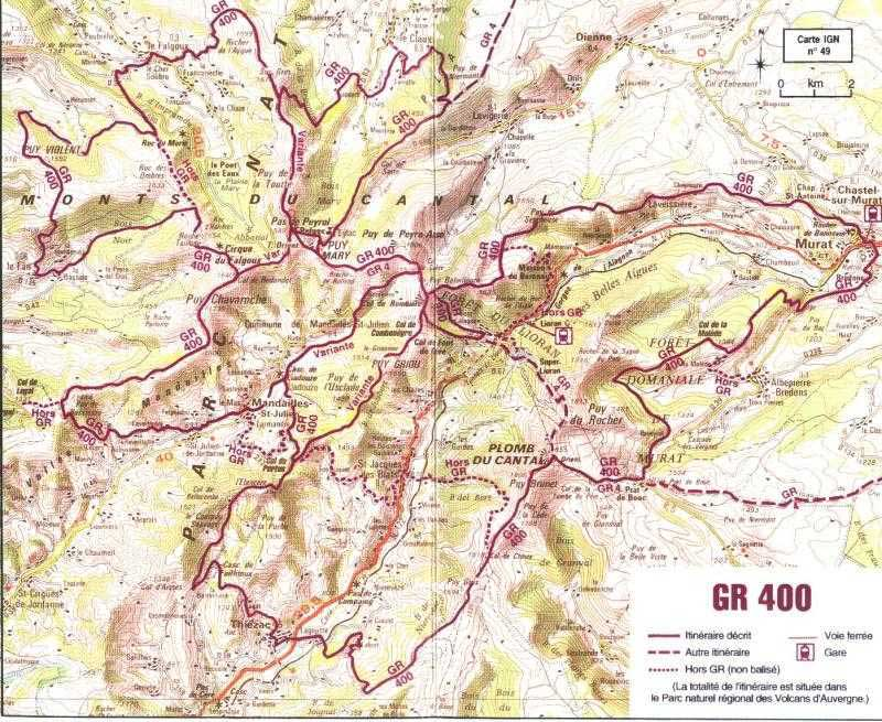 Route du Puy-Mary, début de l'ouverture... - Page 2 Randonnee-cantal-gr400-carte