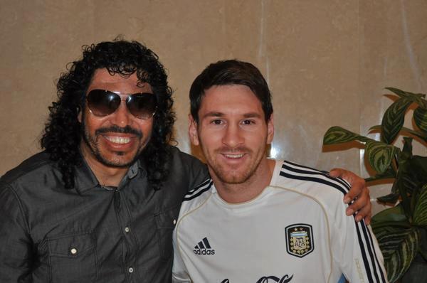 ¿cuánto mide René Higuita? - Altura - Real height Messi-Higuita