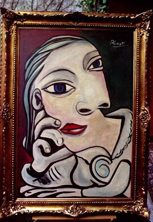 اشهر الرسامين...بيكاسو..ليوناردو دافنشي....نبذة عن حياتهم مع اشهر رسماتهم.صور Oil-painting-tete-de-femme-by-spanish-painter-pablo-picasso-743314