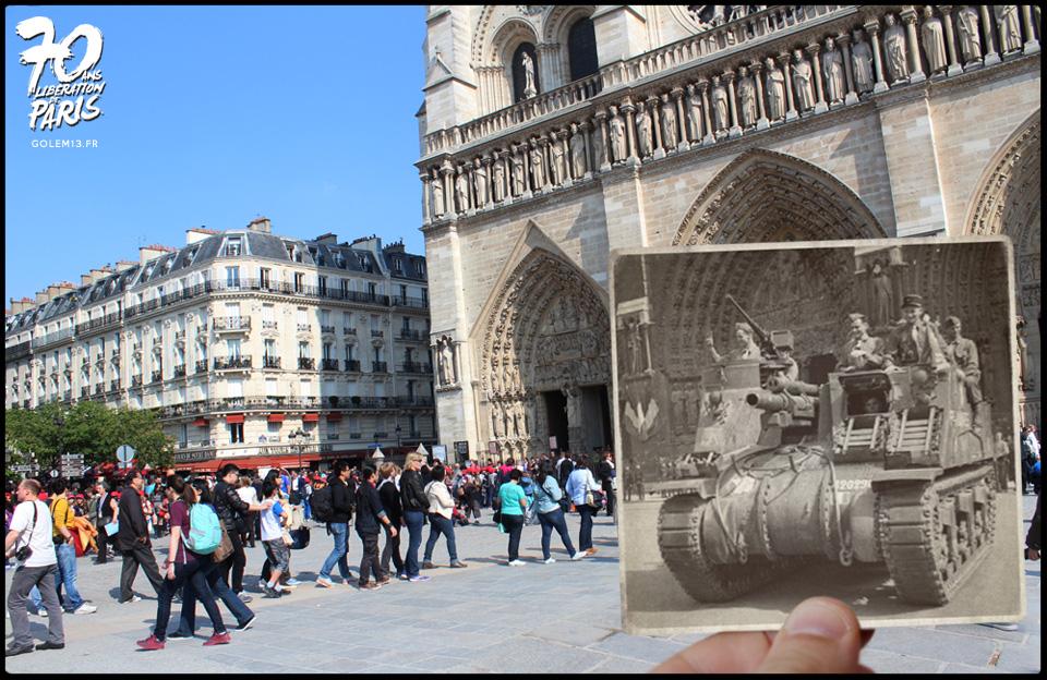 les éléments - Page 34 Golem13-Paris-Liberation-1944-NotreDame8