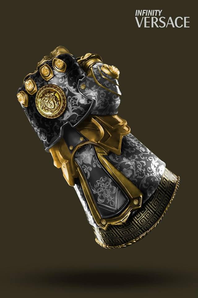 Le Gant de l'Infini revisité par des Vuitton, Supreme, Nike… By Golem13 Gant-Infini-THANOS-Versace