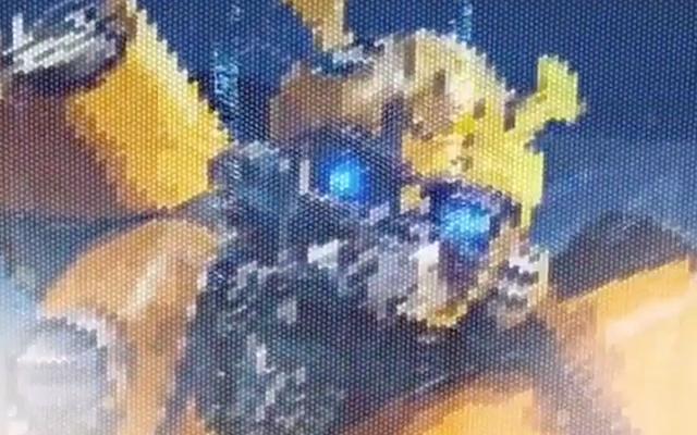 [Pro Art et Fan Art] Artistes à découvrir: Séries Animé Transformers, Films Transformers et non TF - Page 15 Bumblebee-tableau-papier-bulle
