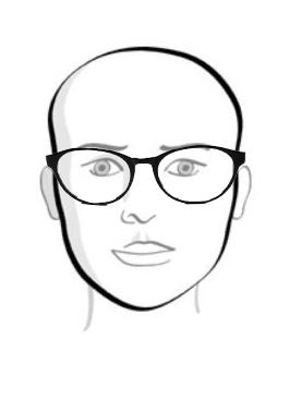 Cách chọn kính nam theo khuôn mặt Trai-tim-1