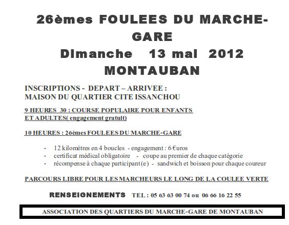 Foulées du Marché-gare à Montauban (82), 13/05/2012 Fouleeemarchegare