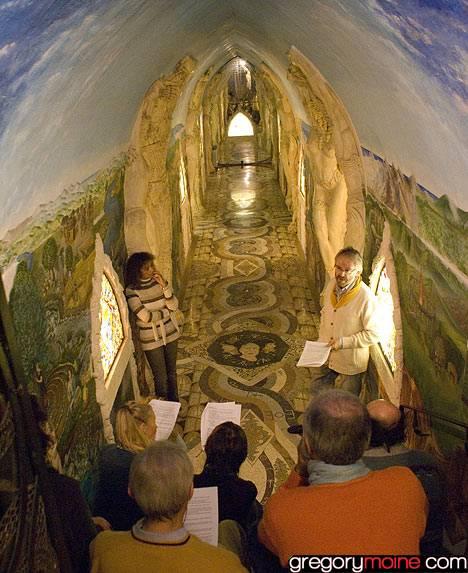 Les temples de Damanhur, un chef d'oeuvre souterrain en Italie Fresque-italie-souterraine4-damanhur