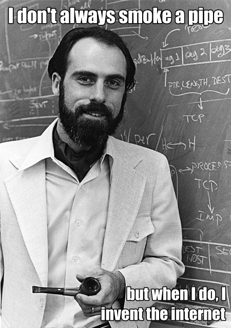 Without him we might not be a brotherhood... Vint-Cerf