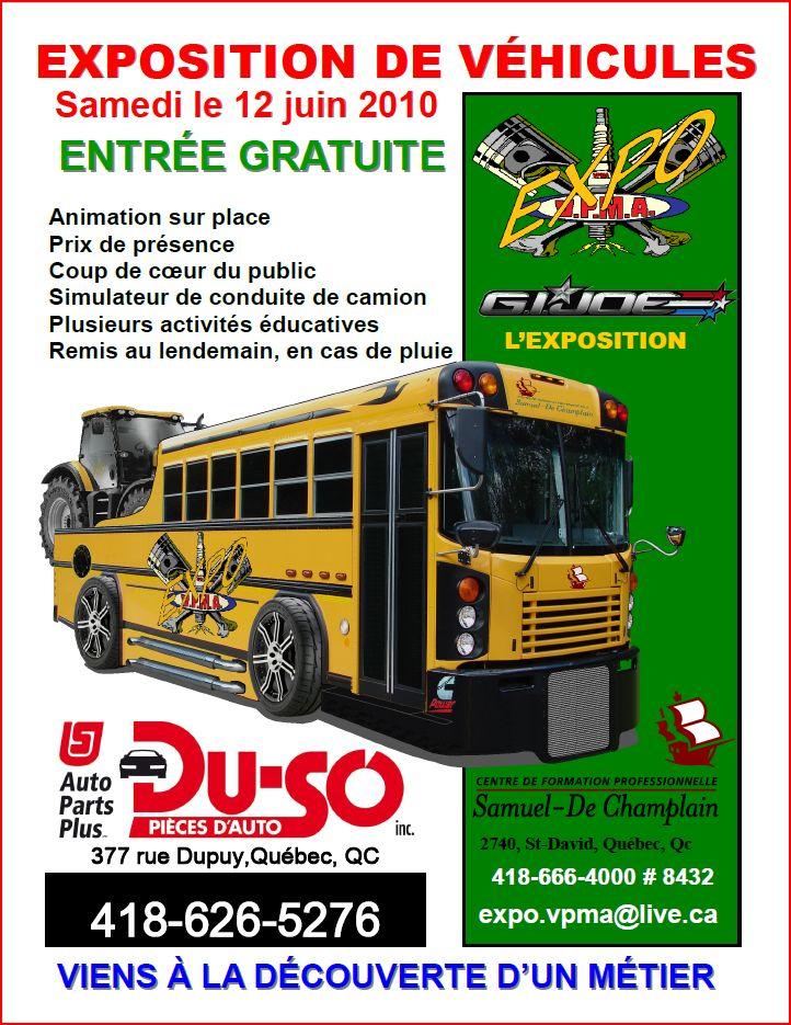 V.P.M.A. CAR SHOW @ SAMEDI LE 12 JUIN 2010 BEAUPORT, Québec Poster-expo-vpma