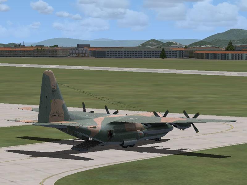 [FSX] C-130 FAB2451 - Lançamento Paraquedista, CDS e Rasante. 02