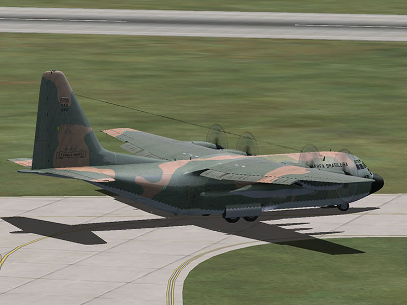[FSX] C-130 FAB2451 - Lançamento Paraquedista, CDS e Rasante. 05