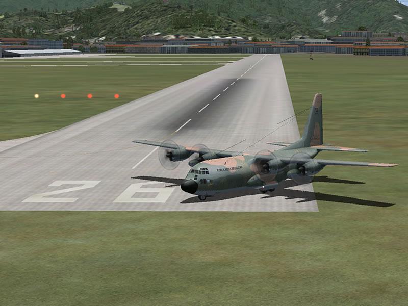 [FSX] C-130 FAB2451 - Lançamento Paraquedista, CDS e Rasante. 06