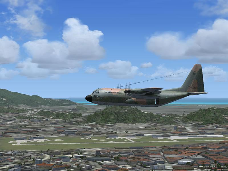 [FSX] C-130 FAB2451 - Lançamento Paraquedista, CDS e Rasante. 07