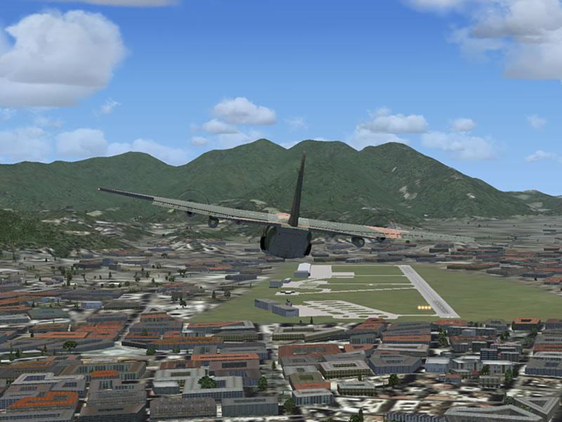 [FSX] C-130 FAB2451 - Lançamento Paraquedista, CDS e Rasante. 08