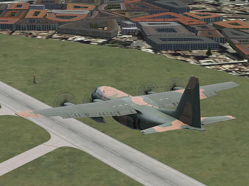 [FSX] C-130 FAB2451 - Lançamento Paraquedista, CDS e Rasante. 09