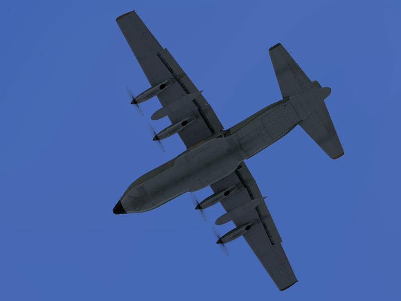 [FSX] C-130 FAB2451 - Lançamento Paraquedista, CDS e Rasante. 10