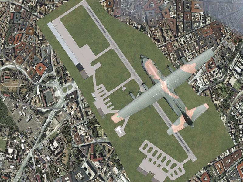 [FSX] C-130 FAB2451 - Lançamento Paraquedista, CDS e Rasante. 12