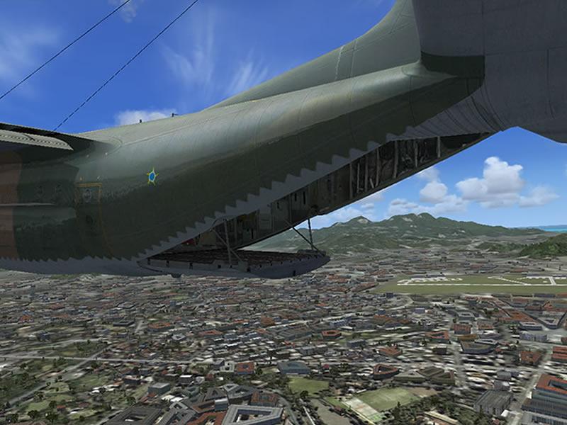 [FSX] C-130 FAB2451 - Lançamento Paraquedista, CDS e Rasante. 13