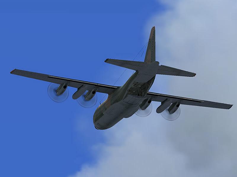 [FSX] C-130 FAB2451 - Lançamento Paraquedista, CDS e Rasante. 14