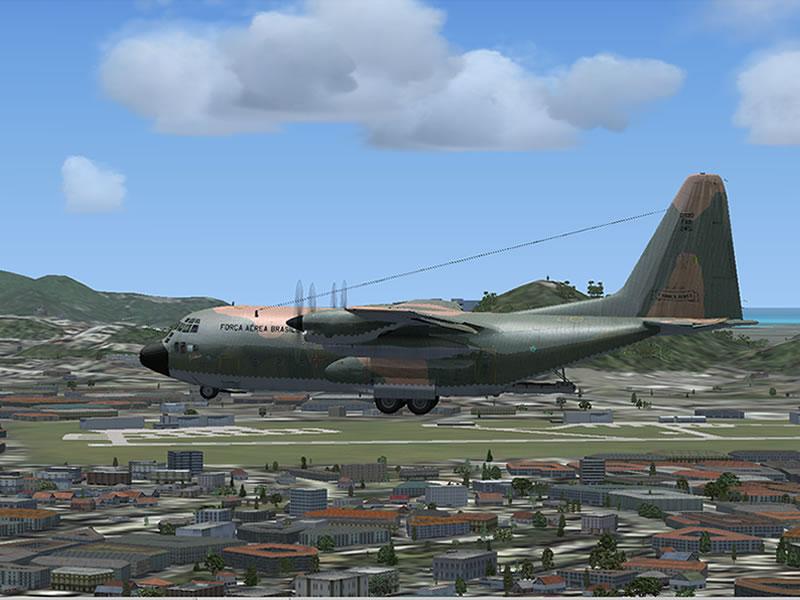 [FSX] C-130 FAB2451 - Lançamento Paraquedista, CDS e Rasante. 15